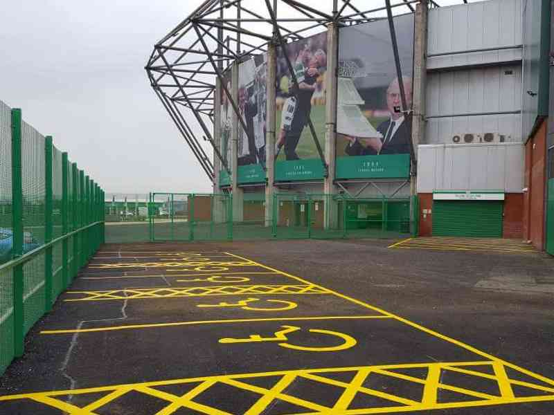 Celtic Park, Glasgow - disabled car parking bays