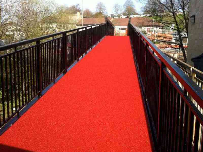 Cold-applied resin bonded surfacing at Clarkston Bridge, East Renfrewshire