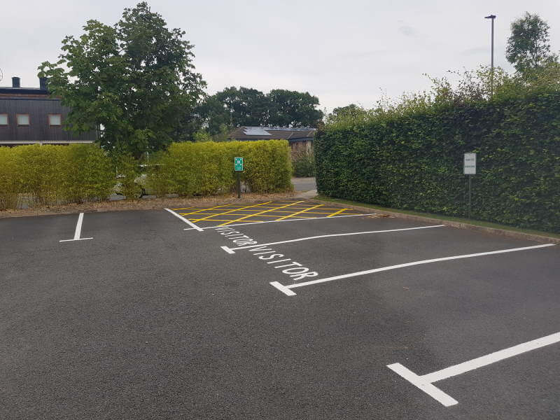 Analox, Stokesley - visitor car parking line markings