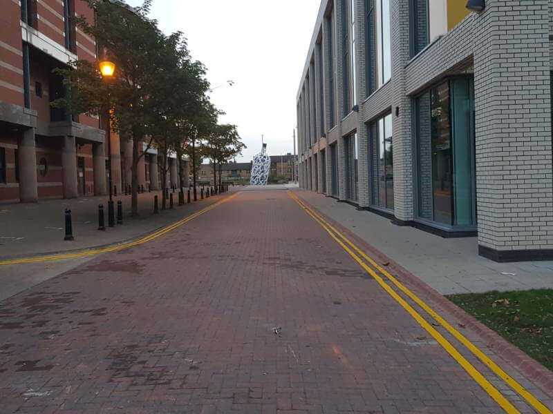Elm Street, Middlesbrough - Double yellow lining
