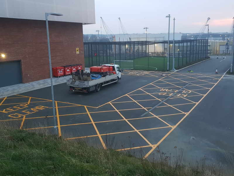 Line marking contractors in Cumbria