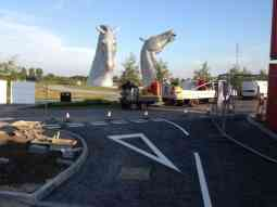 the kelpies grangemouth give-way junction